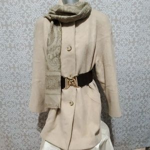 London Fog Cream Coat Size10